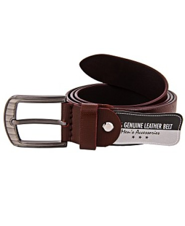 ZINT Brown 100% Genuine Leather Belt