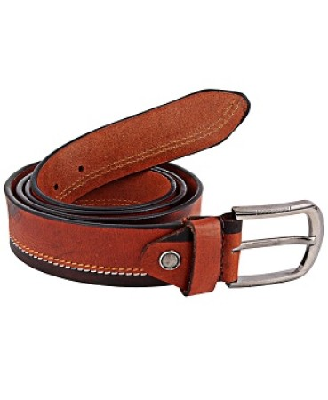 ZINT Brown & Black 100% Genuine Leather Belt