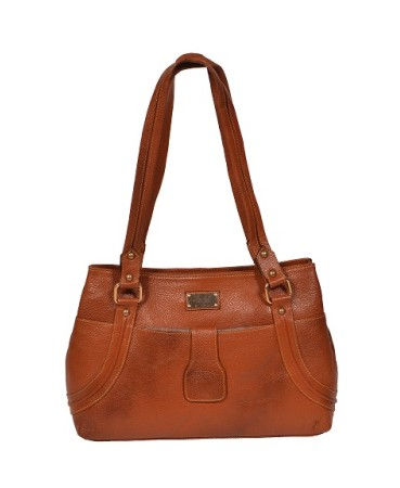 ZINT GENUINE LEATHER TAN SHOULDER BAG HANDBAG SHOPPING BAG WOMEN'S PURSE / GIFTS FOR HER