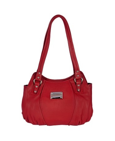 ZINT RED GENUINE LEATHER SHOULDER BAG HANDBAG SHOPPING BAG WOMEN'S PURSE / GIFTS FOR HE