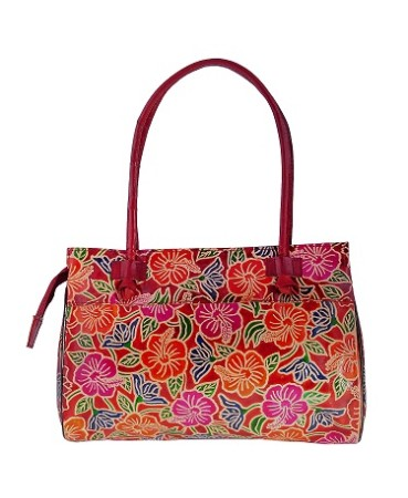 ZINT GENUINE LEATHER SHANTINIKETAN MULTI-COLOR FLORAL SHOULDER BAG PURSE HANDBAG SATCHEL