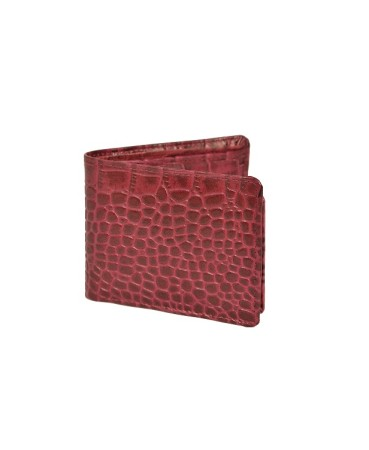 ZINT Men's Wallet Genuine Leather Bifold Credit Card Holder Coin Photo ID Purse Crocodile Print
