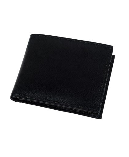 ZINT Men's Wallet Genuine Leather Bifold Credit Card Holder Black Coin Photo ID Purse