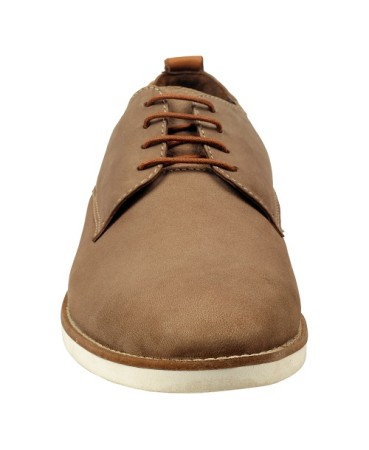 ZINT Genuine Soft Leather Men's Brown Casual Corporate Lace Up Shoes