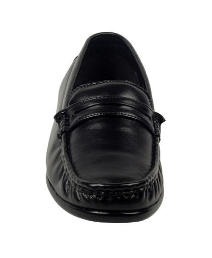 ZINT Genuine Soft Leather Men's Black Formal Shoes