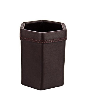 ZINT Pure Leather Black Pen Stand Pencil Holder Office Supplies Desk Accessory Organizer