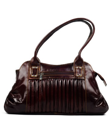 ZINT Brown Retro Style Genuine Leather Shoulder Bag Handbag Shopping Bag Women's Purse / Gifts for Her
