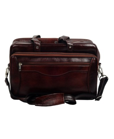 ZINT Mens Leather Briefcase / Leather Laptop Bag / Genuine Leather Messenger Bag / Portfolio Bag / Gift for Him / Fathers Day Gift