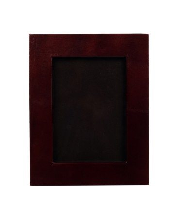 ZINT 5x7 Brown Photo Frame Pure Leather Picture Display with Stand Office Decor Home Decor